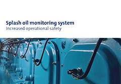 Splash oil monitoring system